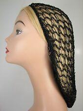 Black Soft Rayon Snood Hair Net Crocheted Hair Net KT17