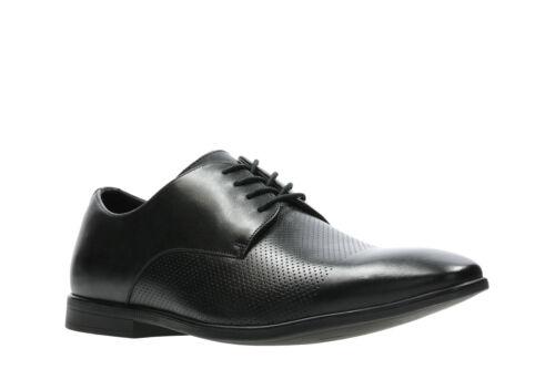 Bampton 5 negro para con Zapatos cuero Uk10 de hombre cordones Clarks Cap Eu44 Us11 nZ66Yw7x