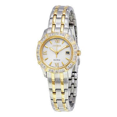 Citizen Eco-Drive Women's EW2364-50A Diamond Bezel Two Tone Dress Watch