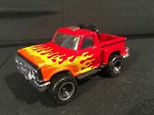 Vintage 80s90s Matchbox #55 Ford F150 Flareside Pickup Red w Flames