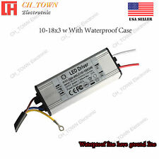 Constant Current LED Driver 10-18X3W Lamp Light Bulb Waterproof Power Supply USA