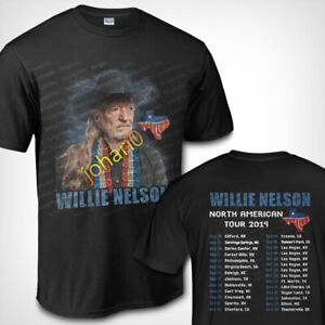 Willie-Nelson-North-American-Tour-2019-T-SHIRT-S-3XL-MENS