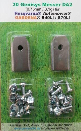 27+3 Carbonstahl Messer Klingen Ersatzklingen Automower® Husqvarna® 0,75mm 3,1g