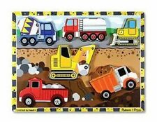 Melissa & Doug Construction Chunky Puzzle 6 Pieces #3726 BRAND NEW