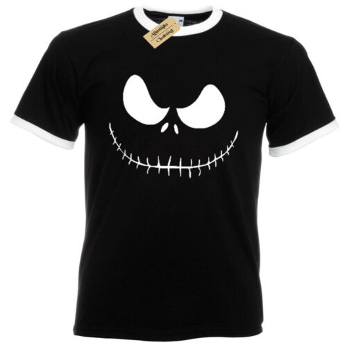 Jack Skellington T-Shirt mens ringer Nightmare Christmas burton