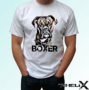 Boxer Dog T Shirt Top Tee Design Mens Womens Kids Baby Sizes Ebay