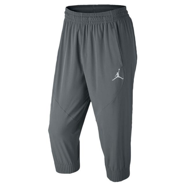 add048f81419e3 JORDAN Ultimate Flight Pants sz L Large Cool Gray Jogging Trousers Dri-FIT