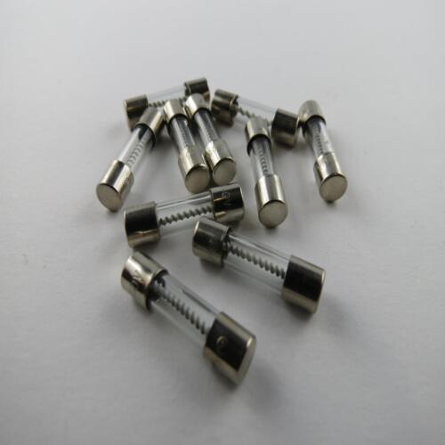 10 Stück Püschel Feinsicherung Glassicherung 5 x 20 träge 8 A bleifrei