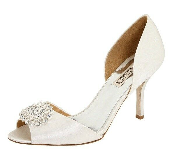 Badgley Mischka LACIE Women shoes Embellished Embellished Embellished Satin Pumps Sz 10M e6de64