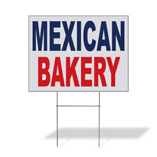 Weatherproof Yard Sign Mexican Bakery Blue Red Food Bar Restaurant Truck