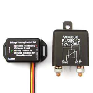 200-Amp-Split-Charge-Relay-Voltage-Sensing-Control-Unit-With-Manual-Switching
