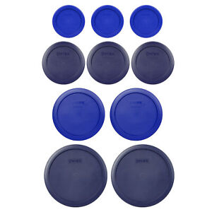 Pyrex-Lids-3-7202-Blue-3-7200-Dark-Blue-2-7201-Blue-2-7402-Dark-Blue