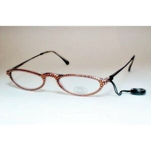 ca486bc591 Image is loading GL787-Jimmy-Crystal-Reading-Glasses-Smoked-Topaz-1-