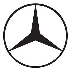 "2x mercedes Benz logo 2.3"" stickers customer EBAY ID n15h4n ONLY"