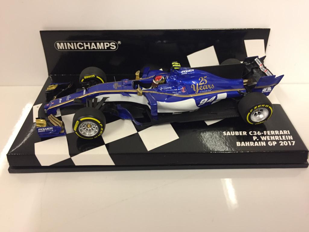 Minichamps 417170094 P Wehrlein Sauber Sauber Sauber c36- FERRARI BAHRAIN GP 2017 6d518b