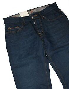 Hugo-BOSS-50238293-DARK-BLUE-DENIM-ORANGE-25-issue-jeans-con-43-LINO-w36-l36