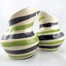 DUO Vases(x2) Asymétrique POET LAVAL Céramique50 COURSANGE Pouchain/Vallauris...