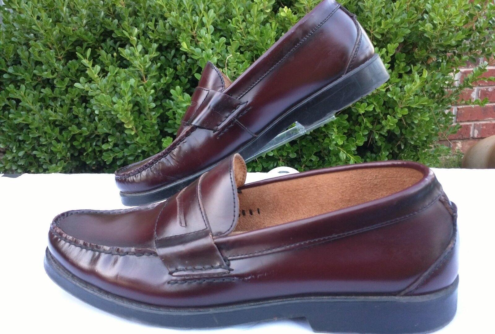 Nunn Bush Kent Men Moc Slip On Oxford Penny Loafer Burgundy schuhe Comfort Gel 11M