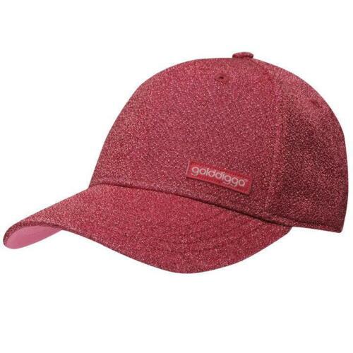 Ladies Golddigga Curved Peak Touch And Close Fastening Baseball Fashion Cap