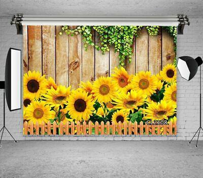 5x5FT Vinyl Photo Backdrops,Tulip,Yellow Flowers Rustic Photoshoot Props Photo Background Studio Prop