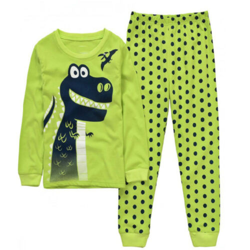Boys Girl Kids Dinosaur Pyjamas Pj/'s Nightgown Nightwear Sleepwear Homewear 1-7Y