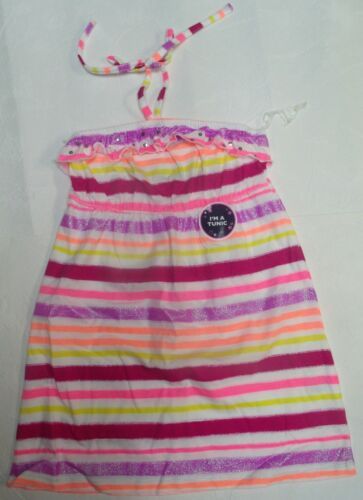 NEW BASIC EDITIONS TUNIC TOP FLORAL or STRIPE PINK PURPLE SIZES 7//8 10//12 14//16