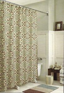 Sonoma Salinas Blue Brown Ikat Shower Curtain Ebay
