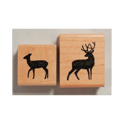 "deer faun Wood Mounted Rubber Stamp 2 x 4 1//2/""  Free Shipping"