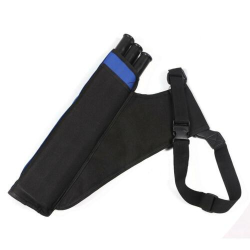 3 Tube Archery Hip Quiver Arrow Hold Bag Hunting Back Side Waist Straps Quiver