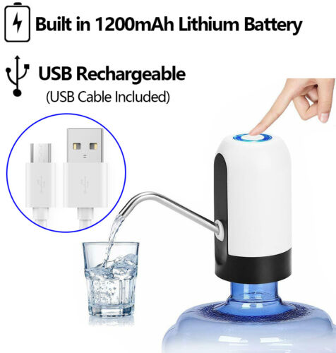 Water Bottle Pump Dispenser Automatic Electric Switch Portable USB Drinking New