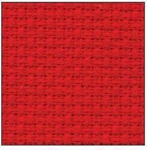 59-inch-x-1-yard-14-count-cotton-cross-stitch-Red-fabric-aida