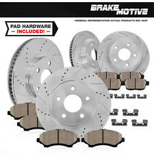 Front+Rear Drilled Slotted Brake Rotors & Ceramic Pads 2008 2009 2010 Cobalt SS