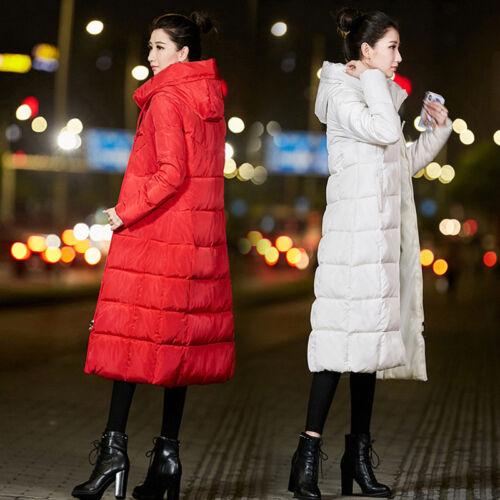 d'hiver pour coton capuche long à femmes Manteau en AXwB8v4q