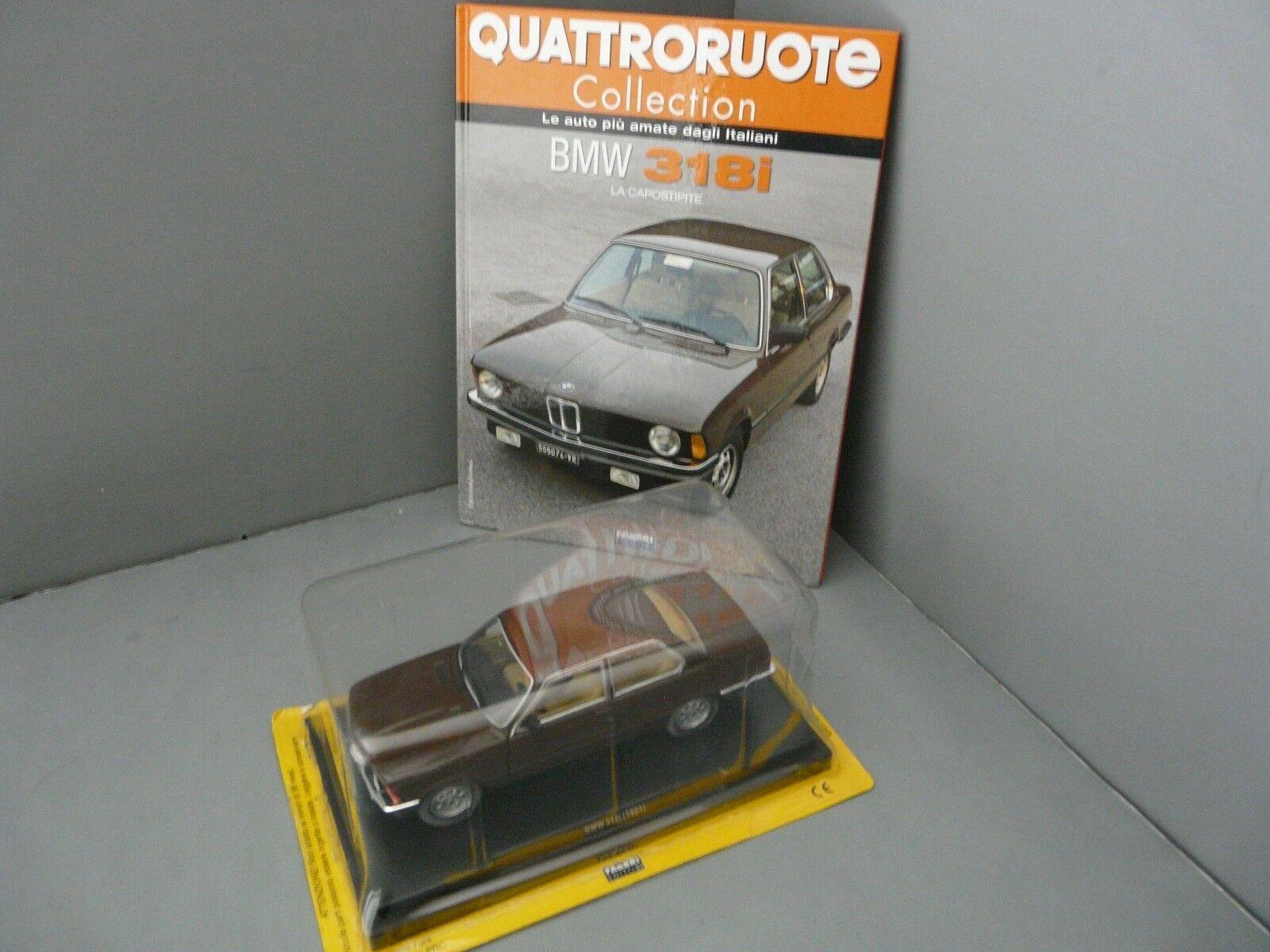 1 24-QUATTRORUOTE METRO-1981 BMW E21 318i-BROWN with Book (in Italian)