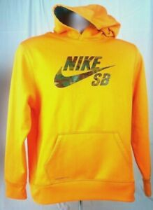 nike swoosh logo hoodie yellow