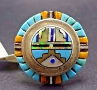 David Freeland Jr Sterling Silver Turquoise Spiny Oyster Inlay Ring, Size 6.25