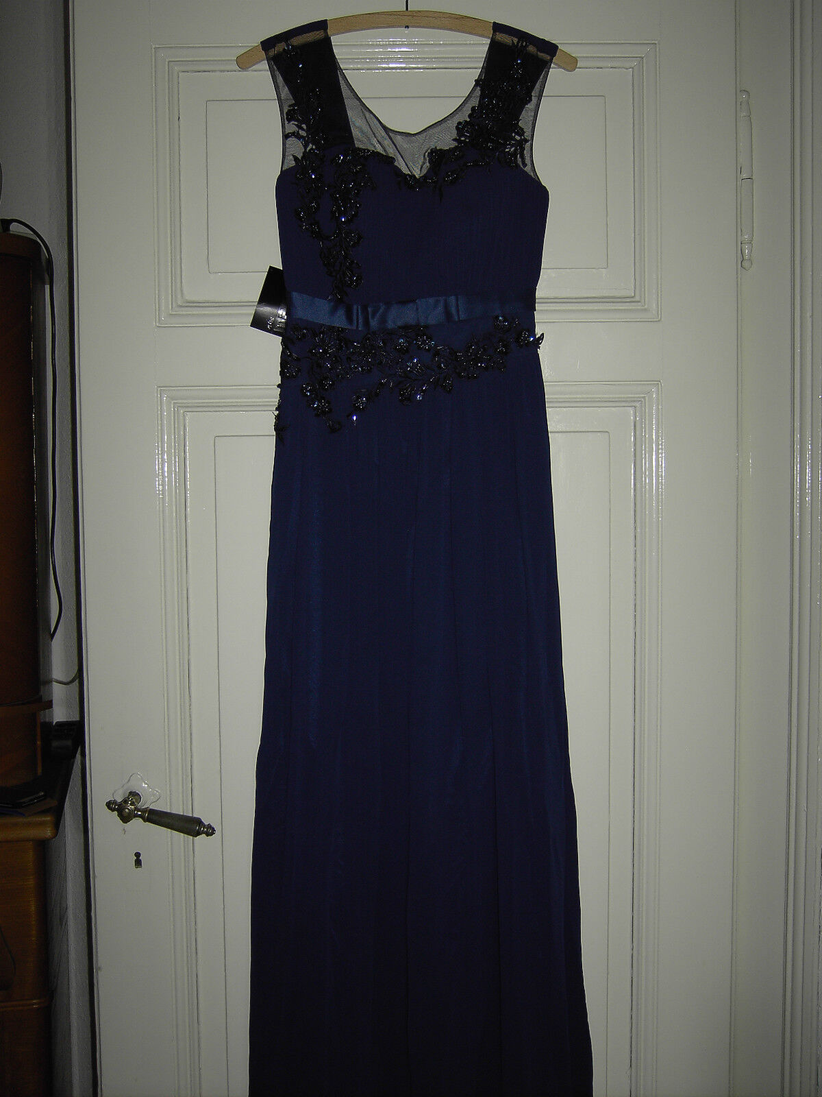 Damen Abendkleid Ballkleid dunkelblau NEU Gr 38 M