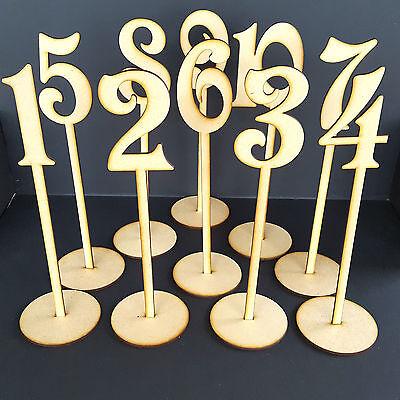 "Freestanding Disney Stand /""Top Table/"" Sign MDF Wooden Wedding Deco Parties Craft"