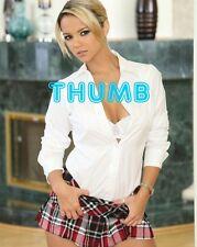 Ashlynn Brooke - 10x8 inch Photograph #091 in Schoolgirl Tartan Mini Skirt