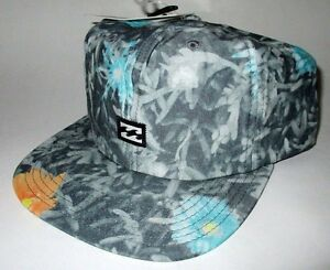 MENS-BILLABONG-TROPICAL-FLORAL-SNAPBACK-ADJUSTABLE-HAT-CAP-ONE-SIZE
