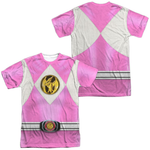Power Rangers PINK RANGER EMBLEM 2-Sided Sublimated All Over Print Poly T-Shirt