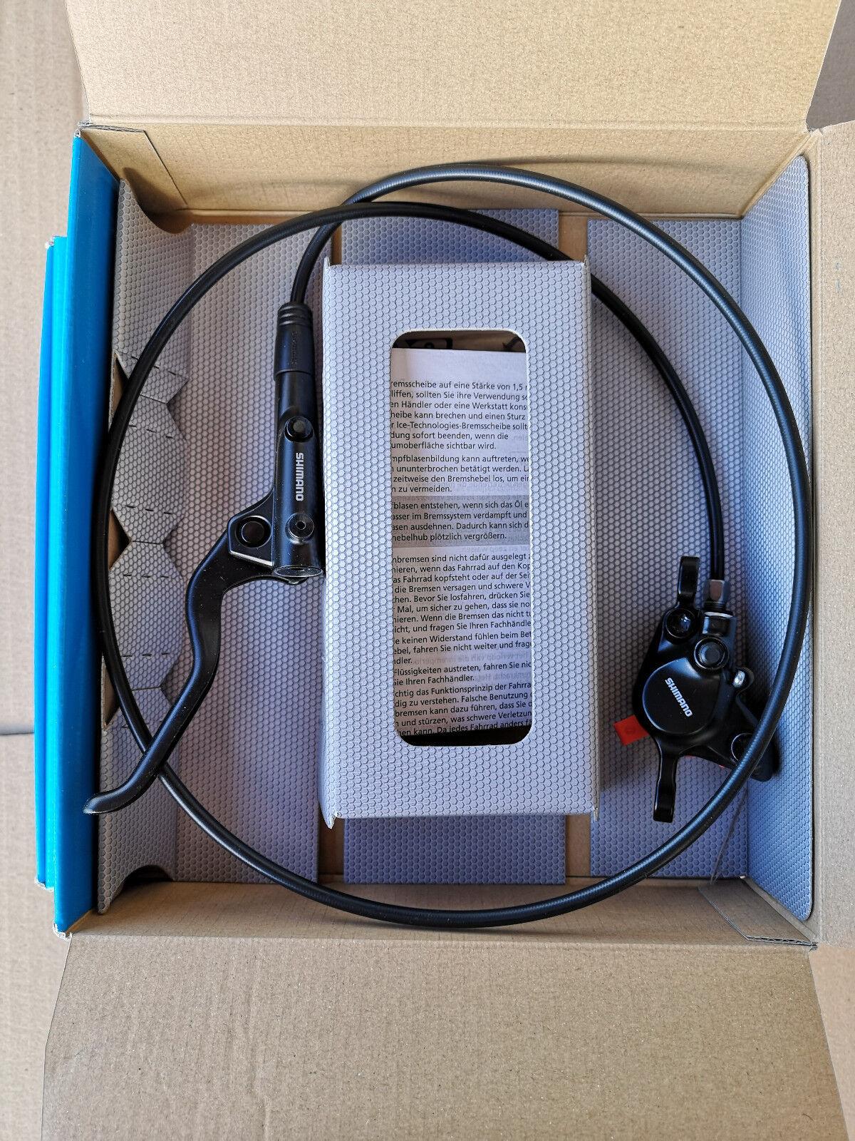 Shimano Shimano Shimano BR-MT200/BL-MT201 Scheibenbremsen, Set vorn & hinten, schwarz, NEU 325374