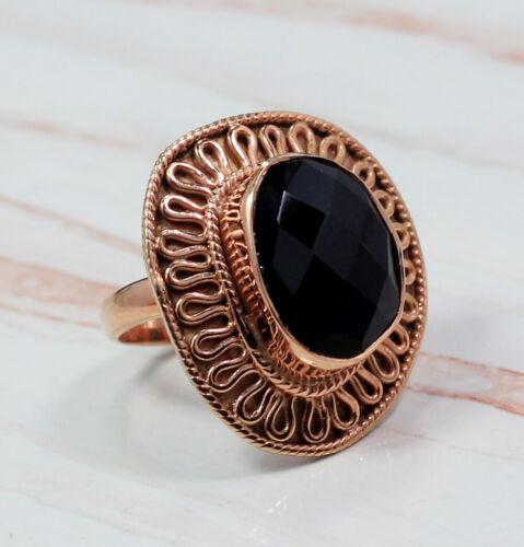 Black Onyx Gemstone Ring Handmade Jewelry Solid 925 Sterling Silver MR1901