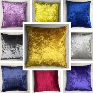 Handmade-Crushed-Velvet-Cushion-Cover-Sofa-Pillow-Case-Various-Sizes-Available