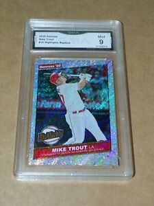 2020 Donruss Highlights Rapture Mike Trout #10 GMA Graded 9 Mint