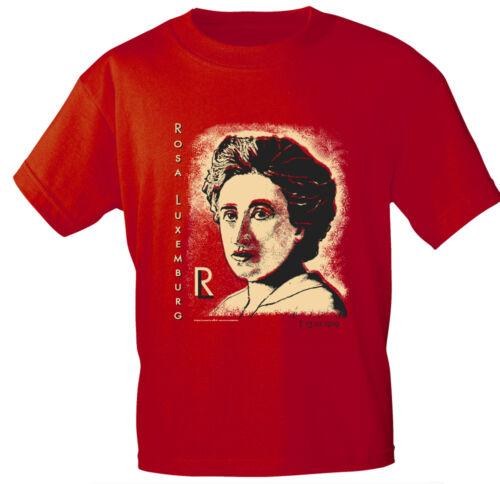 Fun Shirt S M L Xl Xxl unisex T-Shirts super Motiv Rosa Luxemburg 10535