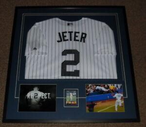 Derek-Jeter-Signed-Framed-33x34-SR-Rookie-Card-Jersey-amp-Photo-Display-Yankees