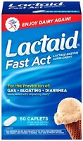6 Pack Lactaid Fast Act Lactase Enzyme Supplement 60 Caplets Each on sale