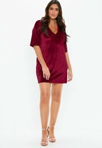 Missguided-plus-size-v-neck-t-shirt-dress-Size-20