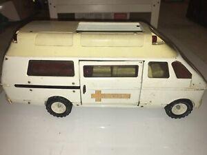 Ambulance-TONKA-vintage-70-039-s-Rescue-Ambulance-Van-tole-Steel-19-034-112619DBT2